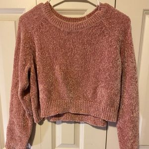 Forever 21 pink cropped sweater